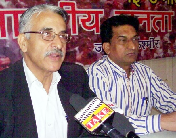 BJP State Spokesperson Lalit Moza (Adv.) while addressing a press conference