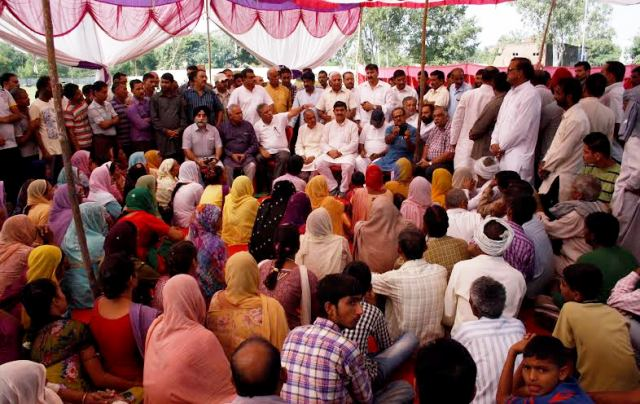 High level BJP team visits border people camps