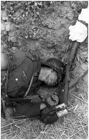 Dead German SS commander in Belgrade during the liberation in WWII by Russian forces.