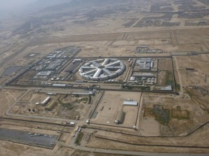 Areal view of prison.