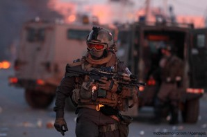Israeli Special Operations soldier in Gaza 2014.