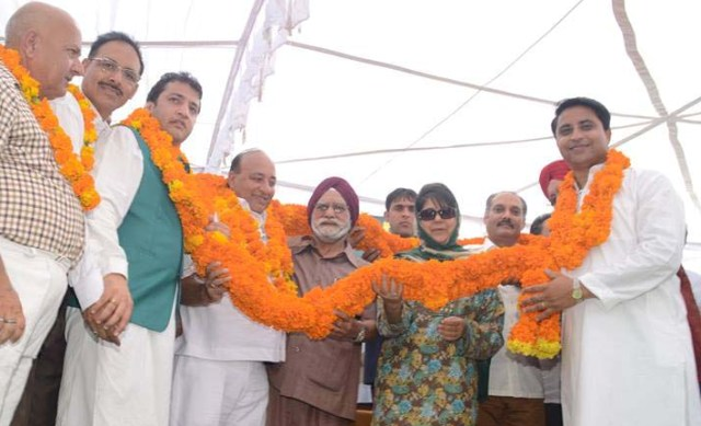 Mehbooba Mufti at joining function at Jammu