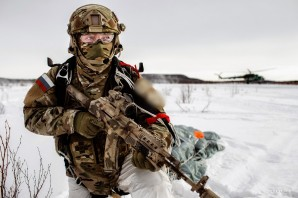 Russian Special forces on combat exercise.