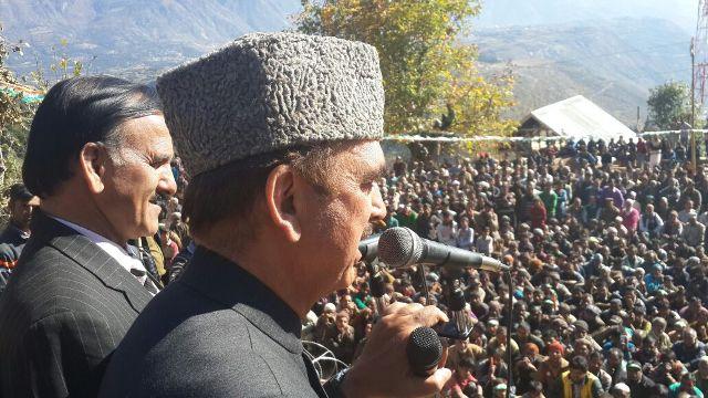 Azad addressing public gathering