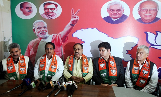 BJP LEADERS AT JAMMU