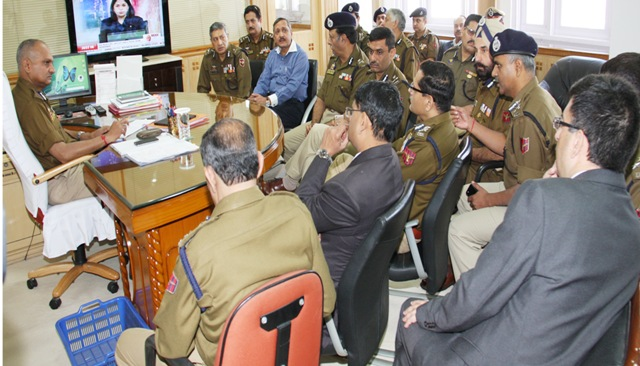 DGP Chairs meeting in PHQ, Jammu