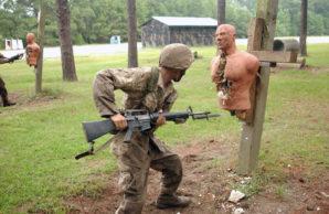 Bayonet drills.