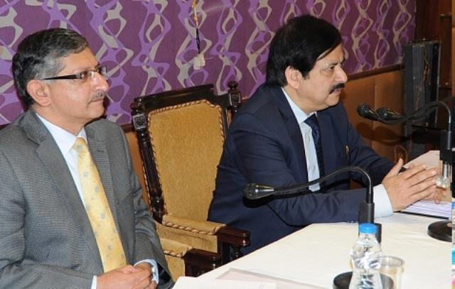 CEO J&K, Umang Narula and Deputy Election Commissioner of India, Vinod Zutshi,