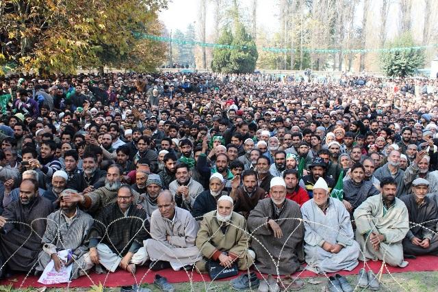 Public gathering of PDP at Anantnag