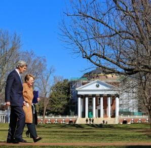 UVA President Teresa Sullivan with Secretary of State John Kerry
