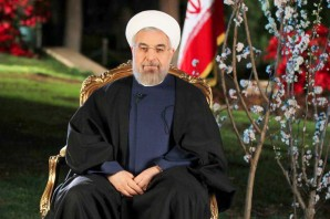 """The President has also failed to include in the negotiations Tehran's ballistic missile program, its support for terror worldwide, and its abysmal human rights record. The Supreme Leader right now is calling to arm Gaza and the West Bank to fight against Israel, and it calls for the democratic Jewish state to be eliminated"""", says Pictured here: President Hassan Rouhani."""