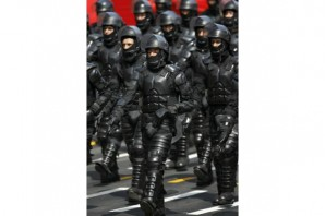 "When you militarize your police department, you get a militarized response to peaceful and lawful citizen protests"", says"