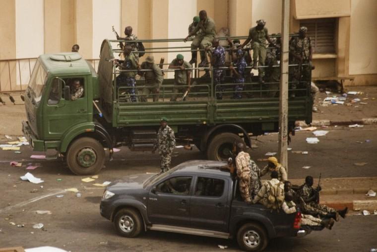 A coup in progress in Mali