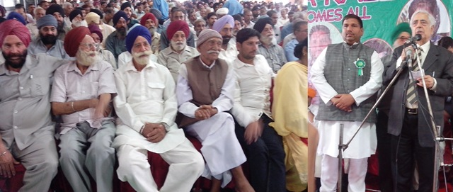 PDP,Patron  Mufti Mohammad Sayeed addressing a public meeting