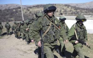 Russian troops in Crimea.