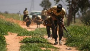 Syrian regime forces target US backed ISIS and FSA fighters in Deir ez-Zor in March 2014.
