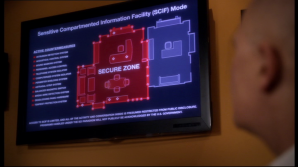 SENSITIVE COMPARTMENTED INFORMATION FACILITIES or Skiff room.