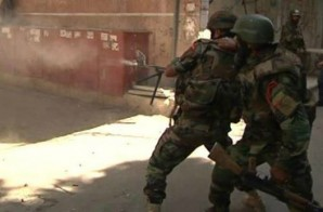 Syrian infantry engage ISIL terrorists in a fierce house to house firefight near Damascus.