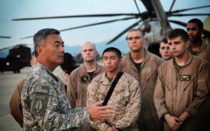 General Nagata speaking to troops in Afghanistan.