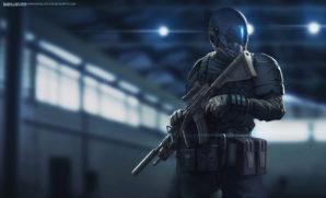 2050 Futuristic Russian soldier concept.