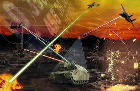 3 dimensional warfare model using drones and drone technology on land, sea and air.