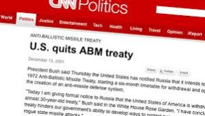 US quits ABM, then surrounds Russia with missiles? Is that a threat to Russian national security interests?
