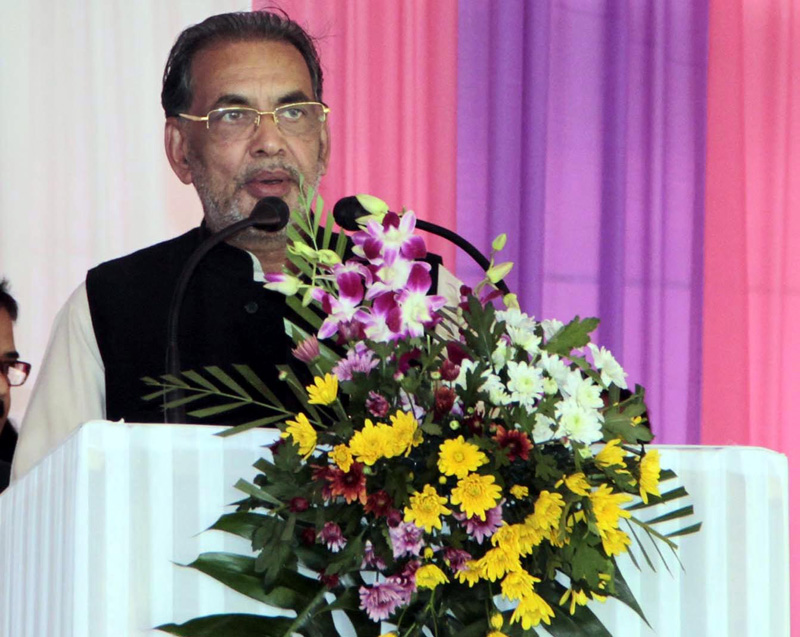 The Union Minister for Agriculture, Mr. Radha Mohan Singh addressing at the 2nd Assam International Agri- Horticulture Show- 2015, at Khanapara, in Guwahati on February 10, 2015.