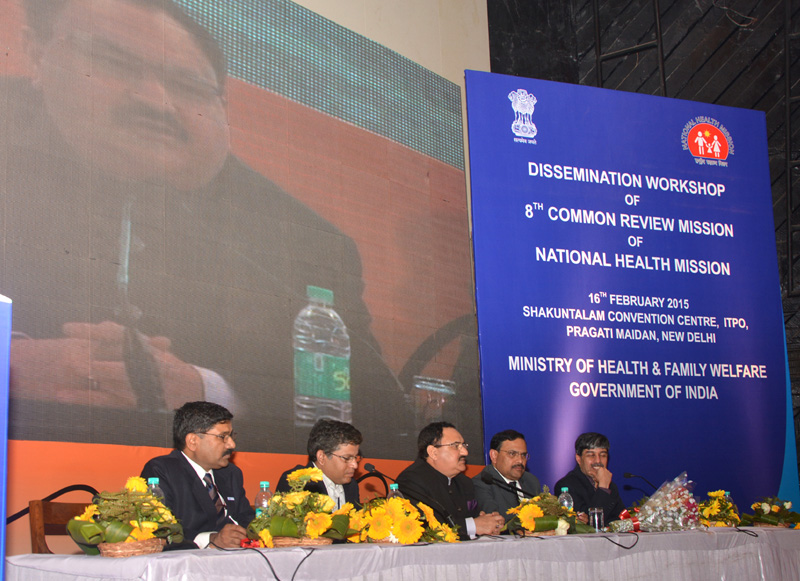 The Union Minister for Health & Family Welfare, Mr. Jagat Prakash Nadda at the Dissemination Workshop of the 8th Common Review Mission of National Health Mission, in New Delhi on February 16, 2015.