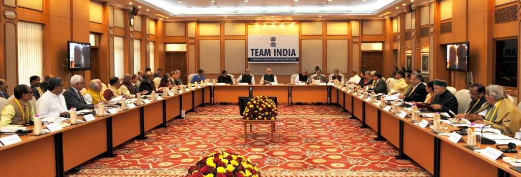 The Prime Minister, Mr.  Narendra Modi chairing the Team India, first meeting of the Governing Council of NITI Aayog, in New Delhi on February 08, 2015.