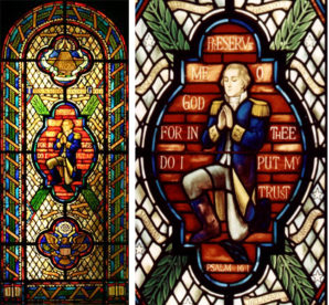 Beautiful stained glass in the Congressional Prayer Room in Washington D.C.
