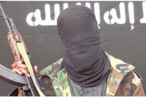 A still image of internet al-Shabaab spokesperson angrily denouncing the strike that killed a notorious terrorist...