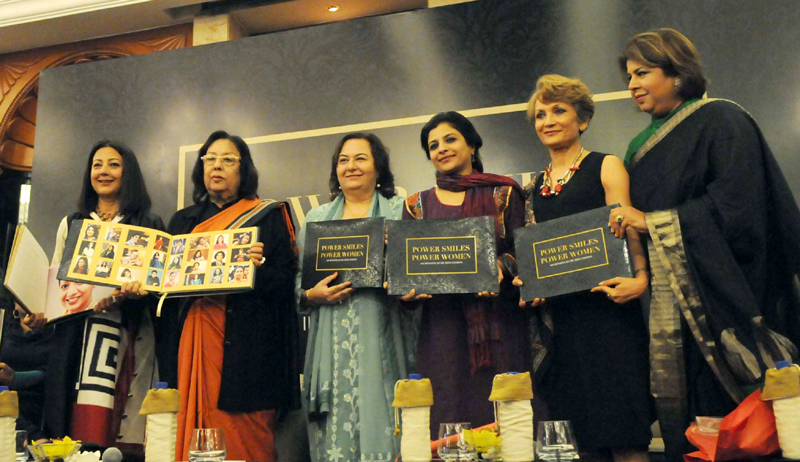 The Union Minister for Minority Affairs, Dr. Najma A. Heptulla releasing a book titled 'Power Smiles Power Women' by Ekta Chadha, in New Delhi on March 02, 2015.