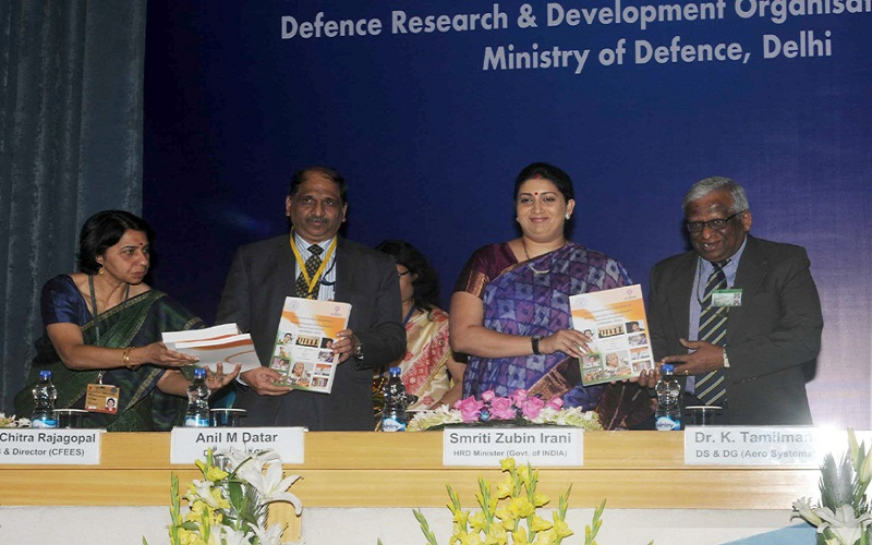 The Union Minister for Human Resource Development, Mrs. Smriti Irani releasing the publication at the National Workshop on 'Women Innovators for Excellence in Research and Science WINNERS' 2015 on International Women's Day, in New Delhi on March 09, 2015.