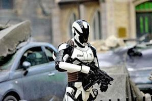 Military robot of the future.
