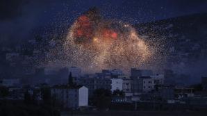 Massive US air strike  in Syria