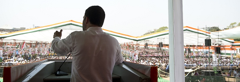 Congress Party Vice President Mr. Rahul Gandhi addressing the farmers in 'Kisan Khet Mazdoor Rally', in New Delhi on April 19, 2015.