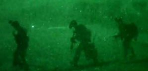 US Special Operations troops returning from raid on ISIS.