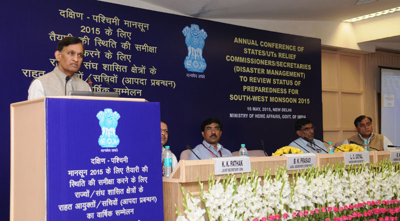 The Union Home Secretary, Mr. L.C. Goyal addressing at the inauguration of the Annual Conference – 2015 on Disaster Management of Relief Commissioners/ Secretaries of States/ UTs, in New Delhi on May 16, 2015.