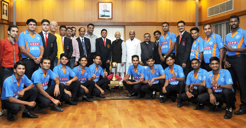 Indian Deaf Cricket Team Players Call On Vice President Ground Report