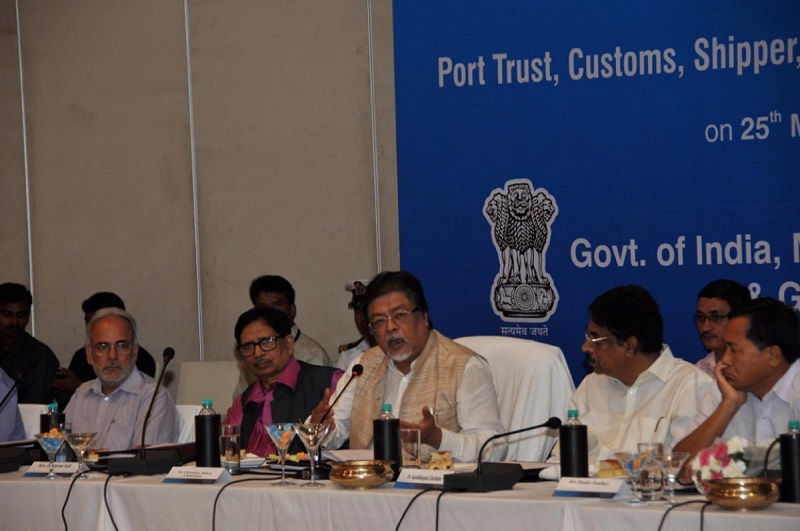 Chairman Dr. Chandan Mitra and Members of Parliamentary Standing Committee's Interaction with Port Trust, Customs, Shppers, Members of Commerce and Exports at Novatal Hotel in Visakhapatnam on 25-05-2015.