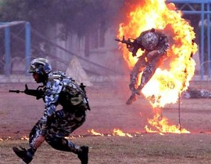 Chinese soldiers are some of the best trained most disciplined in the world.