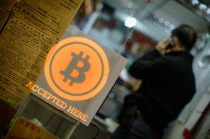 BitCoin accepted sign in Hong Kong. 2015