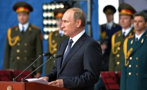 """""""This year we will supply more than 40 new intercontinental ballistic missiles to our nuclear force. They will be capable of overcoming any most technically advanced anti-missile defense systems"""", said Putin."""